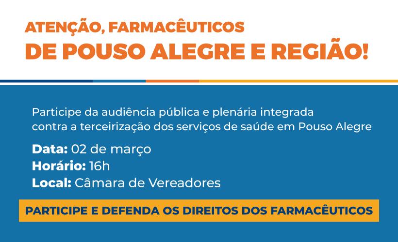 Audiência pública dia 2 de março vai debater demissões na Saúde em Pouso Alegre